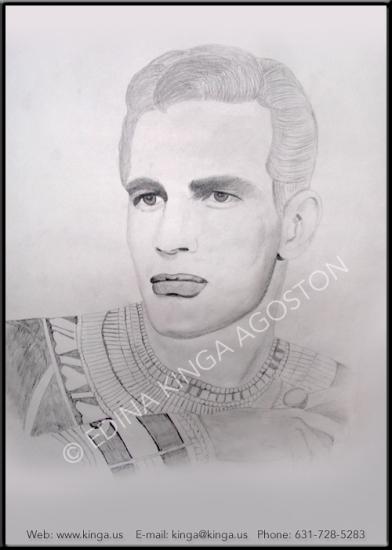 Charlton Heston by Kinga